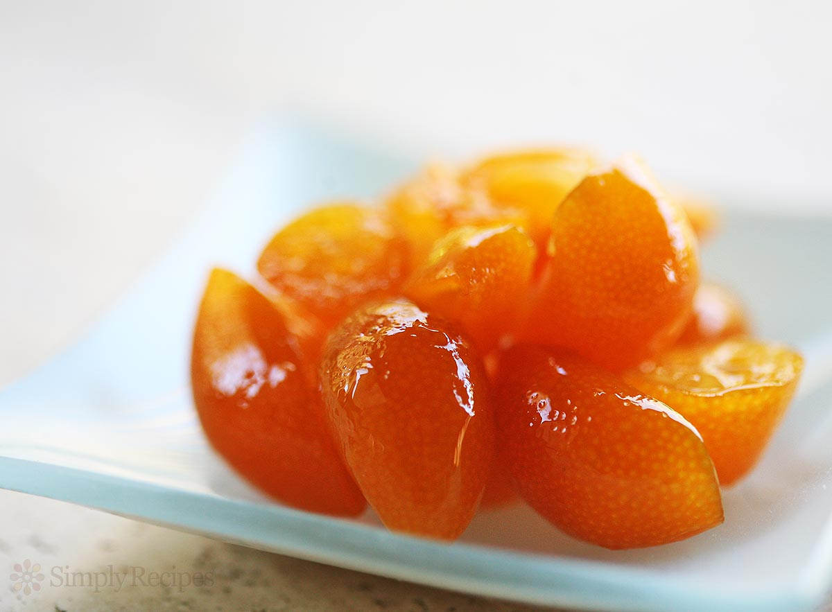 Fructe kumquat confiate