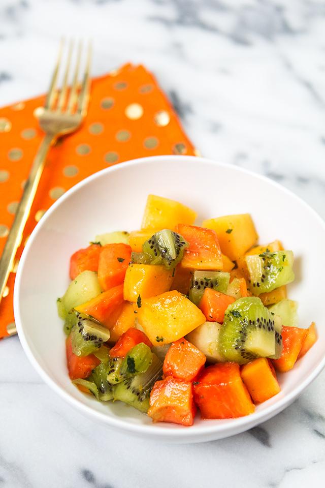 Salata de fructe cu papaya si kiwi